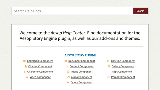 aesop resource documentation